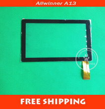 25pcs/lot 7inch Touch Screen PANEL Digitizer Glass Replacement for Allwinner A13 Q88 Q8 Tablet PC pad A13 Free Shipping