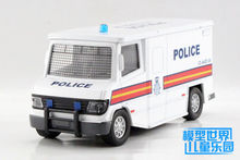 Candice guo SWAT police ambulance Alloy car model plastic toy motor truck simulation collection mini children christmas gift 1pc