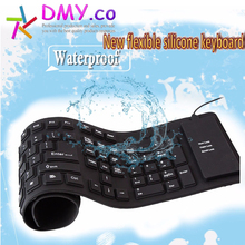 New flexible silicone keyboard hight quality USB keyboard Russian/English silicon portable keyboard Waterproof Keyboard in stock