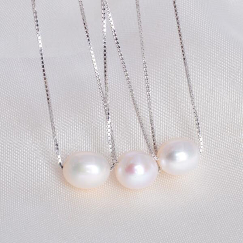 ASHIQI-925-sterling-silver-freshwater-pearl-necklaces-pendant-7-8mm-natural-pearls-jewelry