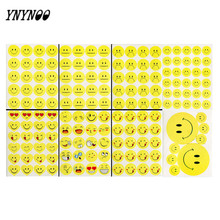 YNYNOO 8 Sheets (182 Stickers) Cute Lovely Die Cut Emoji Flash Smile Emoticons stickers For Notebook Message Vinyl Fun Stickers
