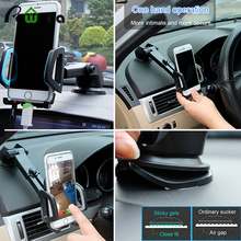 Universal type silicone sucker Car Holder for mobile phone Organizer Mini simple design car avigation Universal For phone stand