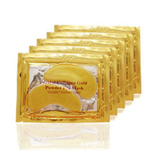 10pcs=5packs 2017Gold Crystal Collagen Eye Mask Hotsale Eye Patches For The Eye Anti-Wrinkle Remove Black Eye Face Care