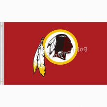 Washington Redskins Logo Custom flag 3x5ft 150x90cm Metal Brass Grommets free shipping