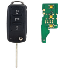 434MHz ID48 5K0837202AD Chip 3 Button Remote Car Key Case Shell Replacement for VW GOLF PASSAT Tiguan Polo Free Shipping D25(China)