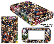 Super Street Fighter Vinyl Skin Sticker Protector for Nintendo Wii U and controller skins Stickers WiiU-0056