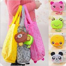 2016 Hot New Reusable Cute Animal Cartoon PortableLovely Folding Eco Shopping Waterproof Travel Bag Pouch Tote Handbag