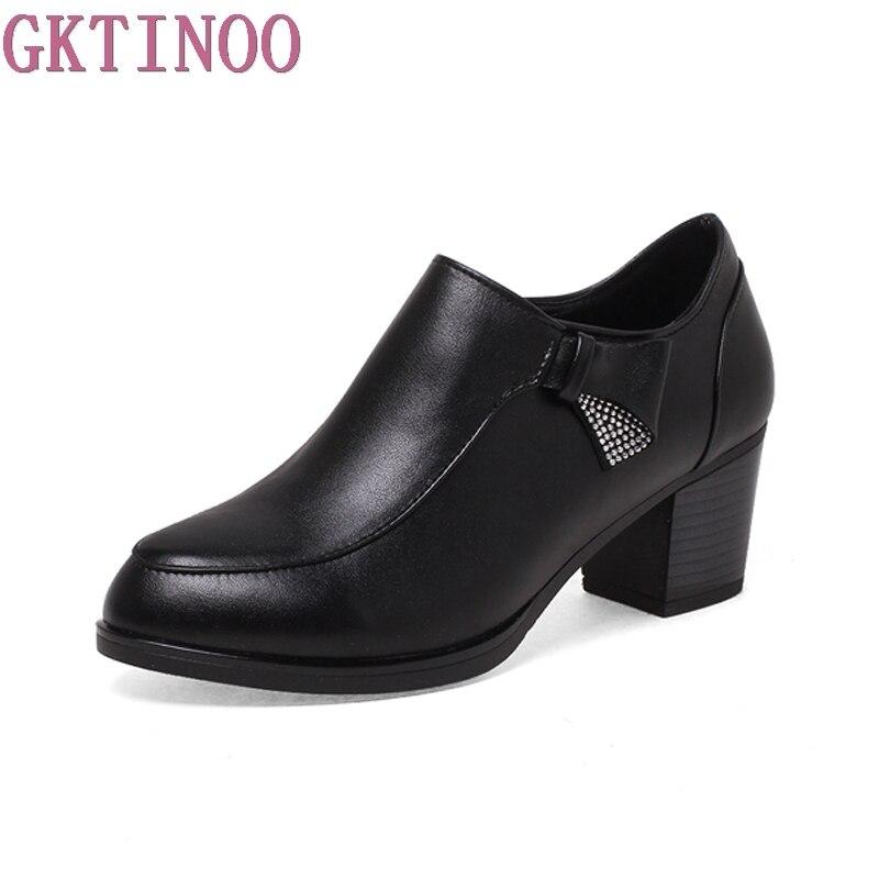 Plus size 35-43 new fashion slip on women pumps high quality thick high heels platform shoes woman<br>
