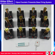12pcs/box remote control indoor fountain fireworks base firing system pyrotechnic Igniter firing holder machine