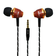 Original Wooden Earphone Awei Q5 3.5mm In-ear Style Headset Fashion Nice Gift Auriculares Headsets for MP3 Players Mobile Phone(China)