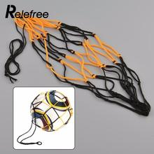 Relefree Nylon Net Bag Ball Carry Mesh Volleyball Basketball Football Soccer Champion Outdoor Multi Sport Game Black&Yellow