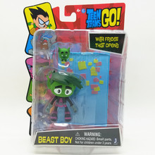 New Teen Titans GO 7.5 cm action figure beast boy With fridge that opens high quality PVC Rare Collection child's gift