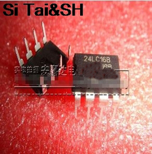 Free shipping 10pcs/lot 16K I2C bus serial EEPROM 24LC16 24LC16B 24LC16B-I / SN original Product