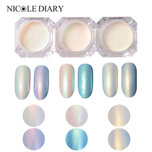 2g Shining Nail Glitter Pearl Powder Manicure Nail Art Glitter Powder 3 Colors