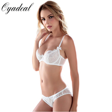 Oyadeal Brand ABCD Cups women Sexy Lace Comfortable Push Up Bra Sets High Quality Bra And Panty  lingerie Underwear Bra Set