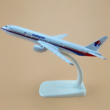 16cm Alloy Metal Air Malaysia Airlines Airplane Model Boeing 777 B777 Airways Plane Model w Stand Aircraft Craft Gift(China)