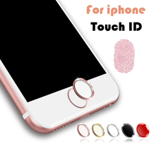 Touch ID Button Sticker Aluminum Home Button Sticker For iPhone 5s 6 6s 6 7 Plus Stickers Finger Identification Function
