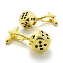 Gold silver cufflinks cuff fashion sleeve shirt charm unisex handsome many choices 1pair free shipping 074441(China)