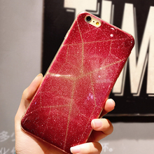Buy Luxury Red Reticular Shining Bling Glitter Girl Phone Cases iPhone 7 7Plus 6 6s Plus Soft TPU Back Case Cover for $5.09 in AliExpress store