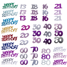 2400/800Pcs Number Men Women Lady Happy Birthday Party Table Scatter Confetti Decoration Age Number Digitals Birthday Decoration(China)