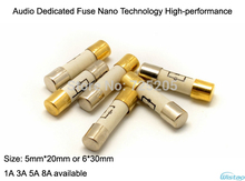 HIFI Audio Dedicated Fuse Nano Technology 5mm*20mm / 6*30mm 1A 3A 5A 8A Ceramic Casing Golde Plated End Caps DIY Free Shipping