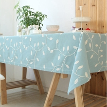 Square Solid Table Cloth  with Embroidered Home Cotton Table Clothes