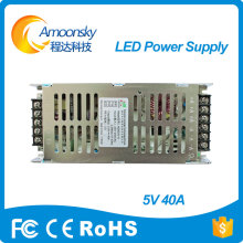 easy operation touch led screen g-energy power supply 5V 40A for led display(China)
