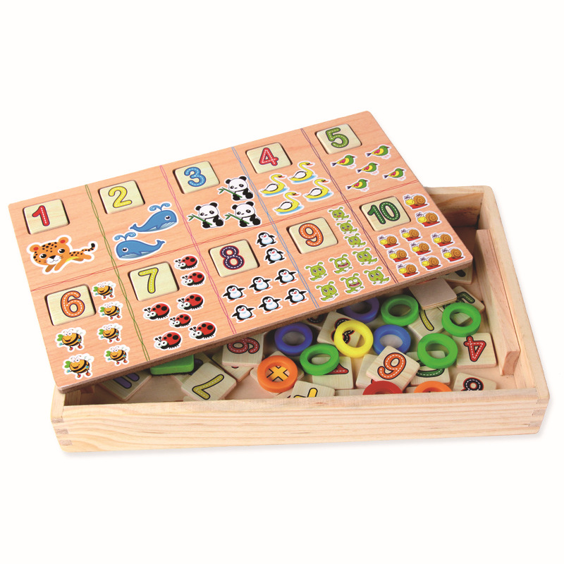 Baby Toys Counting Digit Montessori Mathematical Wooden Box For Kids Gift Count Sticks Learning Box <br><br>Aliexpress