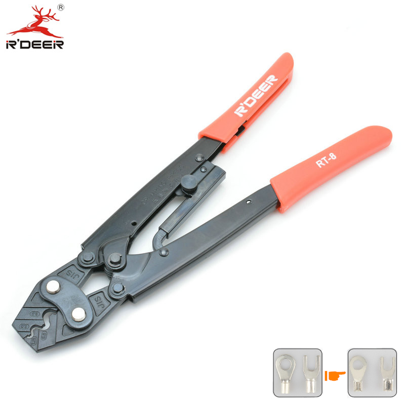 RDEER Crimping Pliers Cold Press Pliers Terminal Crimping Tool Wire Cable Cutting Stripper Crimp Multitool Hand Tools(China)