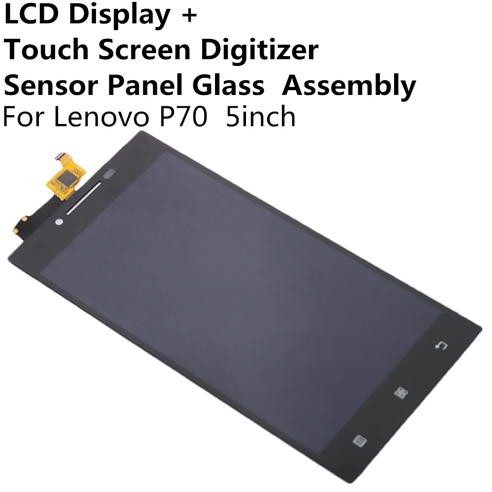 LCD Display + Touch Screen Digitizer Panel Glass Lens Assembly For Lenovo P70 5inch Replacement Parts Repair Part FreeShipping<br><br>Aliexpress