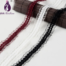 Taidian29mm width White Black Cheap Lace Fabric Trim Ribbon 9.14M/lot DIY Garment Hair Accessories embroidered lace ribbon