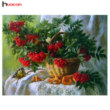 HUACAN Diamond Embroidery Cross Stitch Floral Baskets Kit Picture of Rhinestones Diamond Mosaic Full Square Diamond F1533