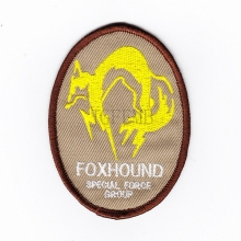 Tan  Metal Gear Solid MGS FOX HOUND Special Force Group Ghost Embroidered patch B2087
