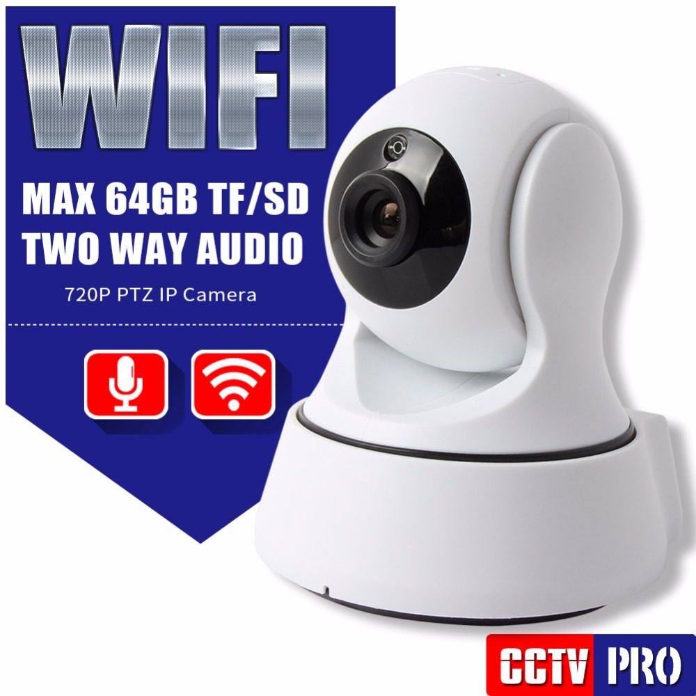HD 720P 1.0MP PTZ Wifi IP Camera Security IR-Cut Night Vision Two Way Audio CCTV Surveillance IP Camera Wireless P2P Indoor Use<br><br>Aliexpress