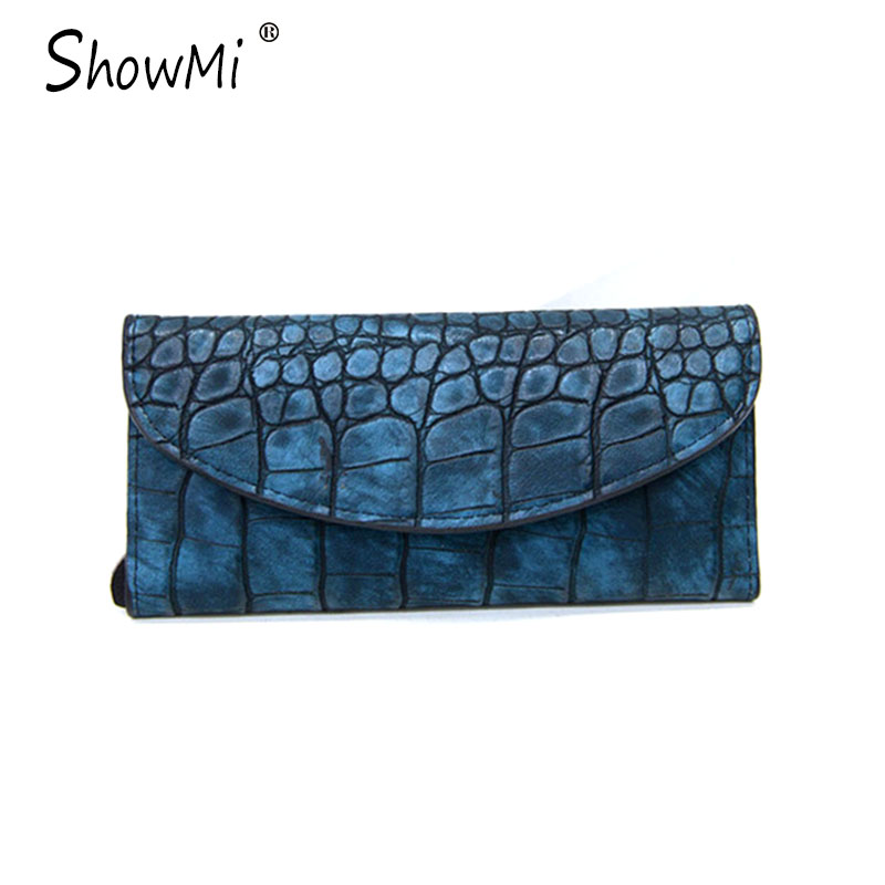 ShowMi Luxury Brand Design Women Long Purse Clutch Bags Multi Card Holder Money Bag Crocodile Real Genuine Leather Female Wallet<br><br>Aliexpress