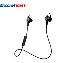 Excelvan APP Bluetooth 4.0 Water Proof Earphone Smart Heart Rate and Foot Step Recorder Pedometer HiFi Stereo Sound Perfect(China)