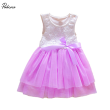2017 Summer Cotton Baby Aestheticism Fairy Tale Petals Colorful Dress Chiffon Princess Newborn Baby Dresses For