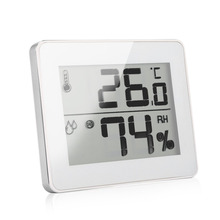Portable  Alternatively Memory Max/Min Temperature & Humidity Manual Time Setting Household Digital Thermometer