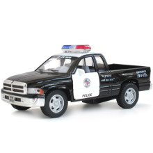 1:44 Scale Emulational Alloy Diecast Models Car Toys, Pull Back Cars Toy, Doors Openable Police Car For Collection