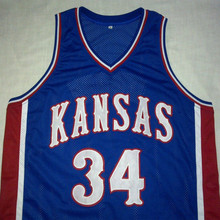 PAUL PIERCE Kansas Jayhawks Blue Basketball Jersey Embroidery Stitched Customize any size and name