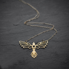 NianDi Bird Necklace Origami Phoenix Necklace Geometric Phoenix Bird Pendant .Bird Jewelry Party Accessories YLQ0562