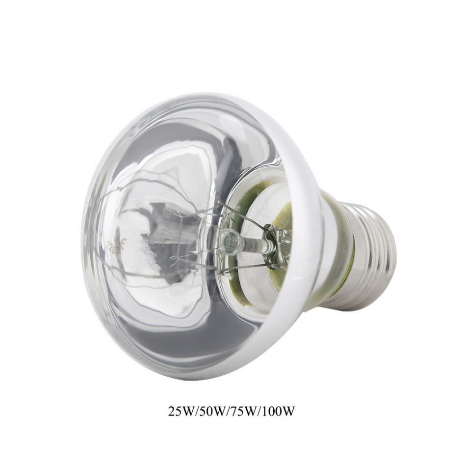 Bombilla de luz de Reptil 220-240 V L/ámpara de luz de Calor de Noche de Tortuga Full Spectrum Calefacci/ón Bombilla Azul para Mascota de Reptil Anfibio 40W