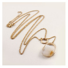 Europe and the United States foreign trade jewelry wholesale natural onyx sweater chain pendant long necklace(China)