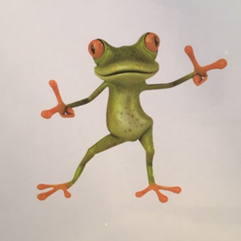 Frog 3D Decal Wall Stickers Animal Green Wallpaper Mural Art Decor Home 1 Piece