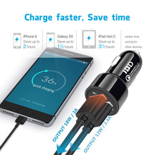 Buy IBD USB 3.0 Car Charger 2 USB Quick Charger 30W Cell Phone Car Charger Android/Iphone Compatible USB Device Power Adapter for $4.27 in AliExpress store