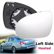 Left Side Car Door Wing Mirror Clear Glass Heated Mount For VW /Passat B6 2005 2006 2007 2008 2009 2010