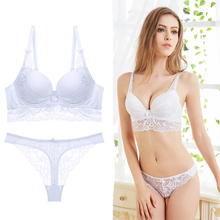 Buy Lace Patchwork Bras Sets Women brand Brief Bra Set intimates lingerie Underwear Transparent Tangas String Bralette BH B C Cup