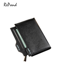 Hot New Fashion Men's High Quality PU Leather Solid Medium Long Wallet Male Casual Brand Portable Cash Clip Purse Man Clutch Bag
