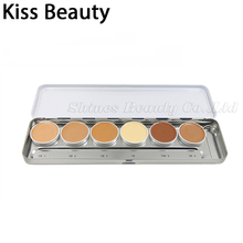 Kiss Beauty 6 COLORS High Coverage Corrective makeup Foundation Transparent application of Ultra Foundation kryolan(China)