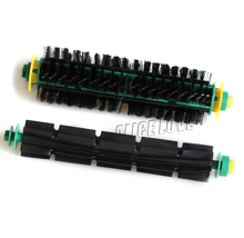 1set/2pcs Free Shipping Bristle Brush +Flexible Beater Brush For iRobot Roomba 500 Series 550 570 Clean Free Shipping